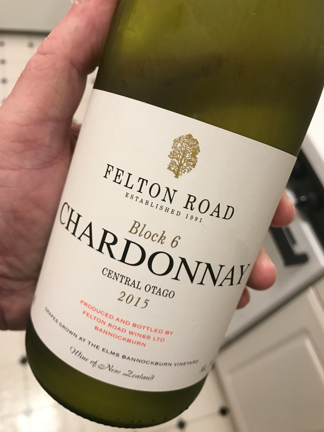 "Wine Review: 2015 Felton Road ""Block 6"" Chardonnay"